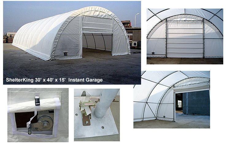 Carport canopies mdm rhino shelter 30 x 40 x 15 for 30 by 40 garage
