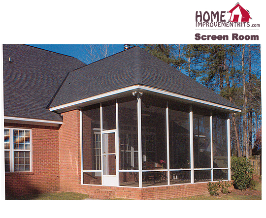 Roof Screen Wall : Screen wall kit only no roof height priced per lineal
