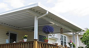 W-Pan aluminum patio cover