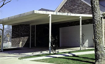 Home improvement kits aluminum and steel residential carport and